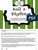 Roll a Rhythm a Game for Composing and Reading Rhythms