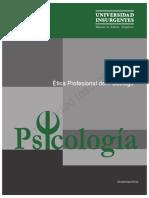 Ética Profesional Del Psicólogo