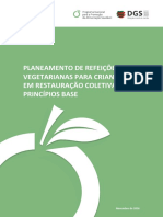 Planeamento de Refeições Vegetarianas Para Crianças Em Restauração Coletiva Principios Base