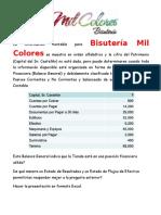 BISUTERIA MIL COLORES - Caso Discusión Estados Financieros