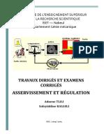 TD Corriges Asservissement Et Regulation