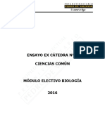 Ensayo Ex-Cátedra N°5 Biología 2016