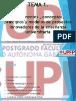 TEMA 1. Fundamentos Conceptos Principios y Modelos de Proyectos Innovadores de La Ensena