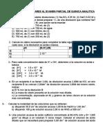 Examen Parcial de Quimica Analitica