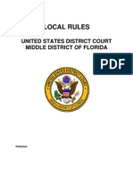 LOCAL RULES U.S. DISTRICT COURT MD FLORIDA (Local Rules 12 2009)