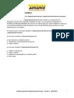 Gabarito Da Apostila Do Departamento Pessoal Versão 2.1 (8.1)
