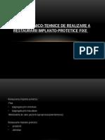 Etapele Clinico-tehnice Pe Implante