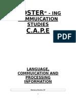 Communication Studies Guildeline Studys