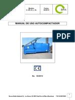 Manual Autocompactador Z ZR N L XL ESP 02 2013 2