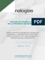 51,4% de los bonaerenses considera corrupto al Gobierno de Macri