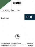 A. Roldan - Preludio Cubano