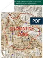 Map for Medfly Outreach in San Fernando Valley