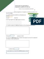 Prueba de Matemáticas 3 y 4 Graficos y Pictogramas