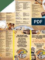 Daytona Beach Oyster Pub Menu