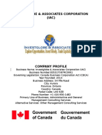 Investglobe Company Profile Rough Draft