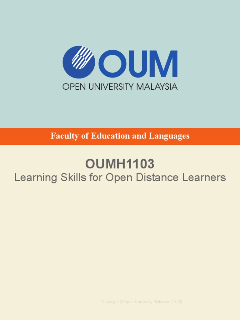 OUMH1103 Learning Skills for ODL_vAug16_bookmarks | Goal | Educational  Technology