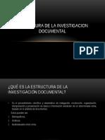 4.1 Estructura de La Investigacion Documental