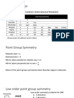 Point Group Symmetry