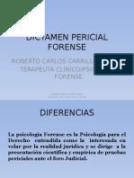 DICTAMEN PERICIAL FORENSE