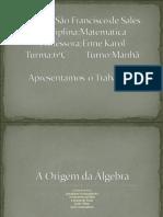 Origem Da Algebra