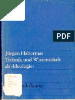 """Habermas Technik und Wissenschaft als """"Ideologie"""". Unvollständig."""