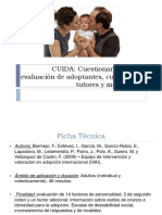 (CUIDA) Cuestionario Para La Evaluación de Adoptantes, Cuidadores, Tutores y Mediadores