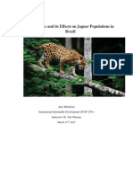agriculture and its effects on jaguar populations in brazil1