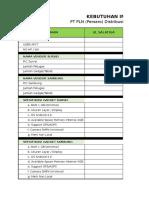 Kebutuhan Implementasi FSO - Mobile AP2T