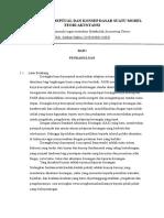 Rerangka Konseptual Dan Konsep Dasar Suatu Model Teori Akuntansi
