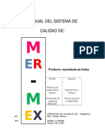 Manual de Calidad MERMEX