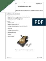 Lab Report-Atterberg Limit Test