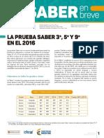12345Edicion 15 Boletin Saber en Breve. La Prueba Saber 35y9 en El 2016