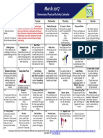 march  2017 elementary physical activity calendar