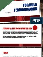 Formula Termodinamik
