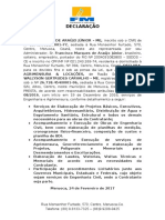 DECLARAÇÃO FINALIZADA