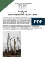 Yanbu Lift & Transportation of the Lift Crane