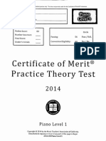 Cm Practice Test Lvl 1 2014