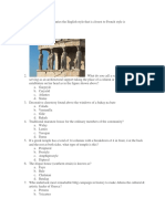History of Architecture Questionaires
