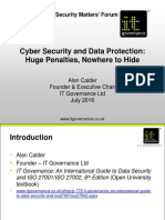 Alan Calder - Cyber Security and GDPR - Security Matters Forum - July 20