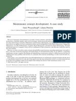 Maintenance concept development:A case study