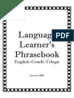 Pocket Phrasebook English-Gondi-Telugu (LATIN Script)