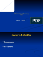 Lecture 2 Pseudocode Flowcharts