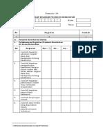 Formulir Pelaporan SIP