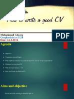 CV Writining MGhazey