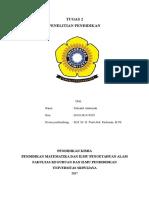 Tugas 2 Penelitian Pendidikan (Robiatul Adawiyah 06101381419050)