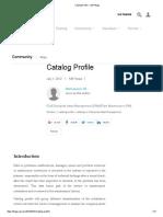 Catalog Profile