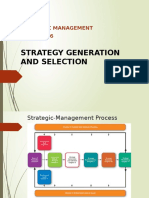 Tutorial 6 - Strategic Management - Strategy Generation and Selection