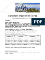 02 Days Tour Green City of Seattle