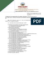 Projeto de Lei Xxx.2017 - Nova Estrutura Educação