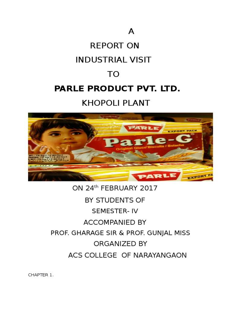 Parle project by dangat trupti   Retail   Distribution ...